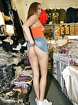 Gwen Diamond showing her goodies in Chinatown